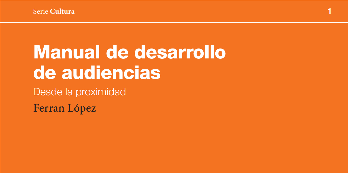 Portada del manual de desarrollo de audiencias
